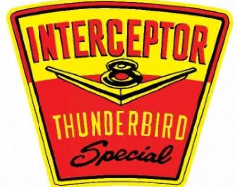 Ford Thunderbird Air Cleaner Decal, Thunderbird Interceptor, 1958