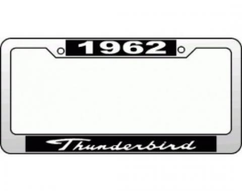License Plate Frame, 1962 Thunderbird