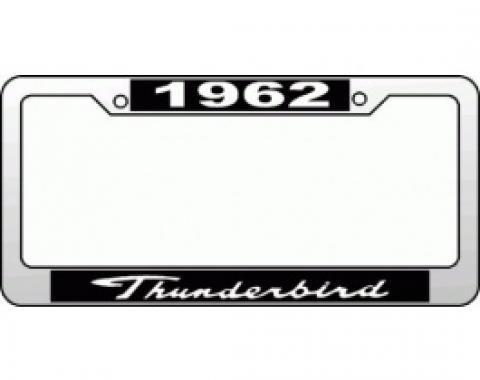 License Plate Frame, 1962 Thunderbird