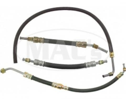 Ford Thunderbird Power Steering Hose Kit, With Female Fitting On The Pressure Line, 1955-56
