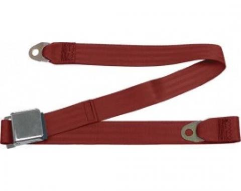 """Seatbelt Solutions Ford Thunderbird Lap Belt, 60"""" with Chrome Lift Latch 1800602007 