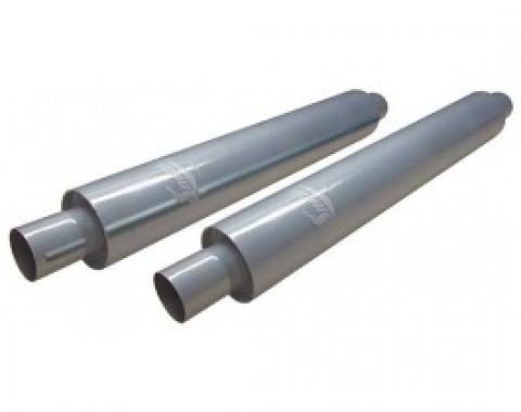Smithy's Muffler, 26 Case, Fiberglass Packing, 3-1/2 Case Diameter, 2 Inlet and Outlet, Pair