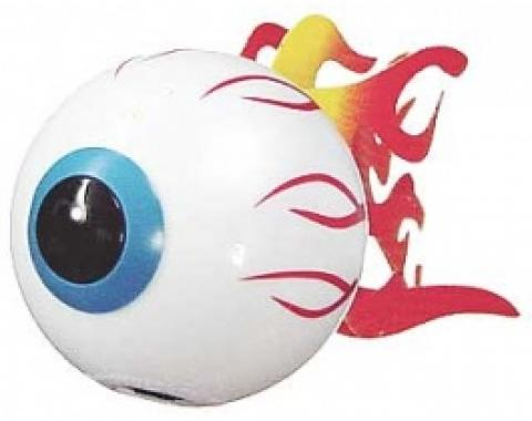 Antenna Topper, Flaming Eyeball