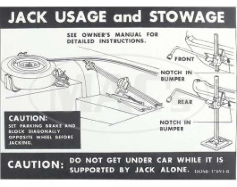 Jack Instructions, 1970 Thunderbird