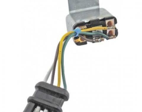 Ford Thunderbird Emergency Flasher Relay, 4 Wire Plug, 1966