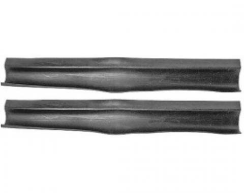 Ford Thunderbird Radiator Support To Hood Seals, Rubber, Sold As A Pair, 1958-60