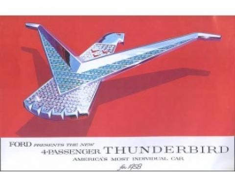 Dealer Sales Foldout Brochure, 1958 Thunderbird