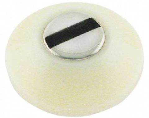 Ford Thunderbird Glove Box Lock Bezel, White Plastic, 1959-60
