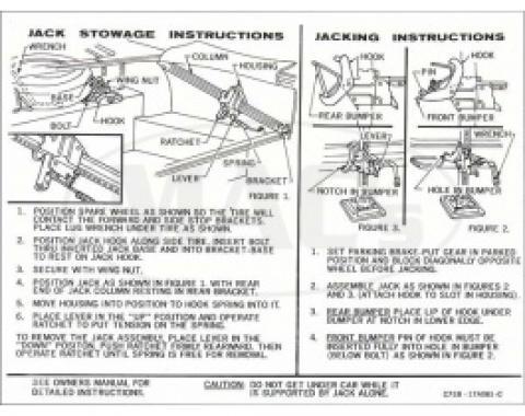 Jack Instructions, 1967 Thunderbird