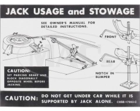 1968 Jacking Instructions