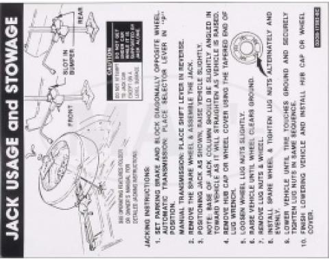 1972 Jack Instructions