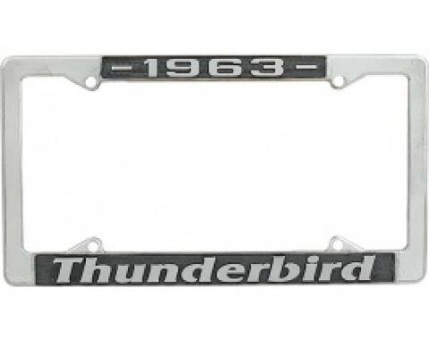 License Plate Frame, 1963 Thunderbird