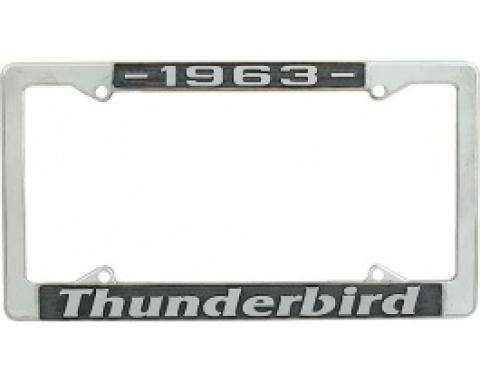 License Plate Frame, 1963 Thunderbird