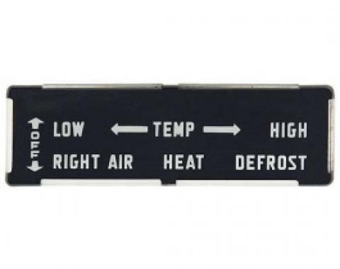 Ford Thunderbird Heater Control Face Plate, 1955-57