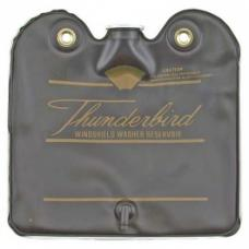 Ford Thunderbird Windshield Washer Bag, Black With Gold Letters, With Screw On Cap, 1964-65