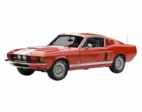 Mustang Shelby GT500 1:18 Scale Die Cast Model, 1967, Red With White Stripes