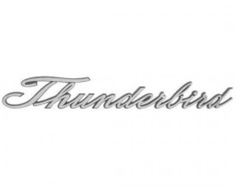 Ford Thunderbird Quarter Panel Nameplate, Thunderbird Script, Chrome, 1965-66