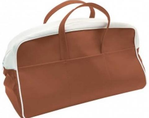 Ford Thunderbird Tote Bag, Buckskin & White, 1956