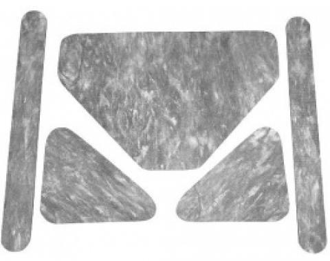 Ford Thunderbird Hood Insulation Pad Set, Die-Cut Fiberglass, 5 Pieces, 1965