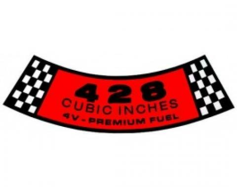 Air Cleaner Decal - 428 4V-Premium Fuel