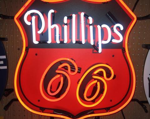 Neonetics Standard Size Neon Signs, Phillips 66 Neon Sign