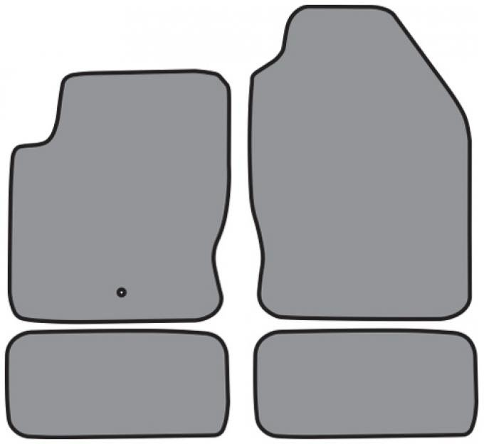 ACC  Ford Focus Floor Mat 4pc (FM192 FM192R) Cutpile, 2000-2007