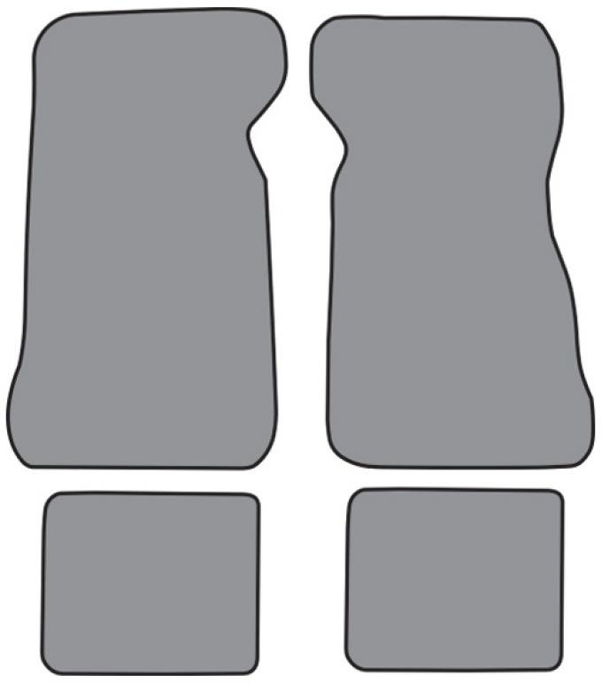 ACC  Ford Thunderbird Floor Mat 4pc (FM217F FM18R) Loop, 1972-1973