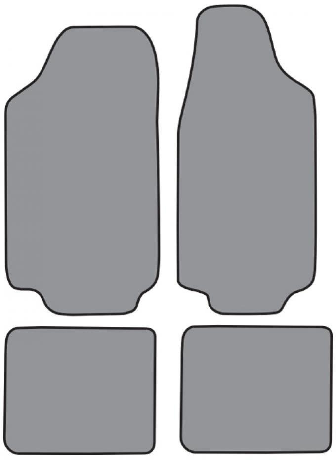 ACC  Ford Pinto Floor Mat 4pc (FO252F FM18R) Loop, 1971-1973