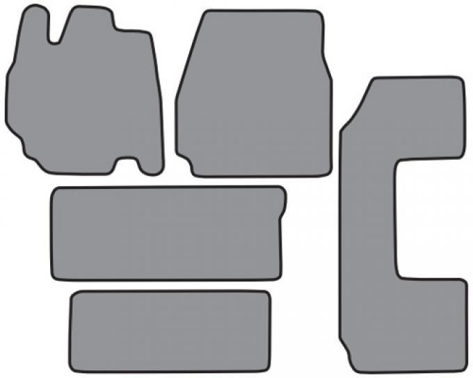 ACC  Ford Windstar 2pc Frts 2pc Rr Runners & Side Door Floor Mat 5pc (FM157 FM157R) Cutpile, 1995-1998