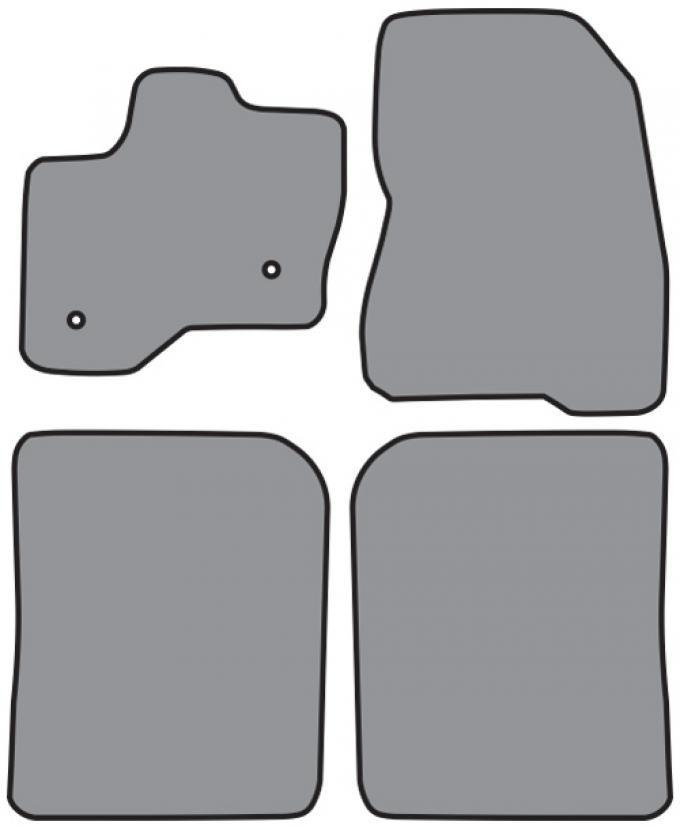 ACC  Ford Flex Floor Mat 4pc (P529F P528R) Cutpile, 2011-2015