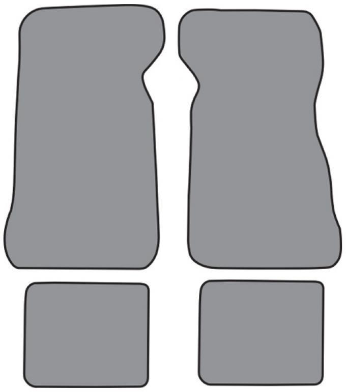 ACC  Mercury Cougar Floor Mat 4pc (FM217F FM18R) Cutpile, 1976-1979