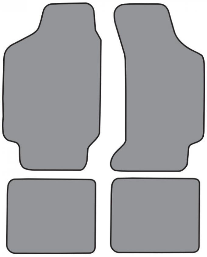 ACC  Mercury Topaz Floor Mat 4pc (FO305F FM18R) Cutpile, 1984-1988