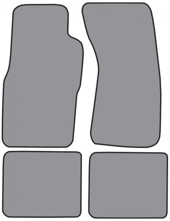 ACC  Ford Thunderbird Floor Mat 4pc (FM275F FM18R) Cutpile, 1989-1997