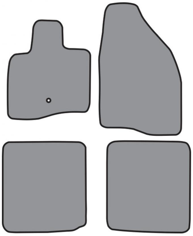 ACC  Ford Five Hundred Floor Mat 4pc (FM303 FM303R) Cutpile, 2005-2007