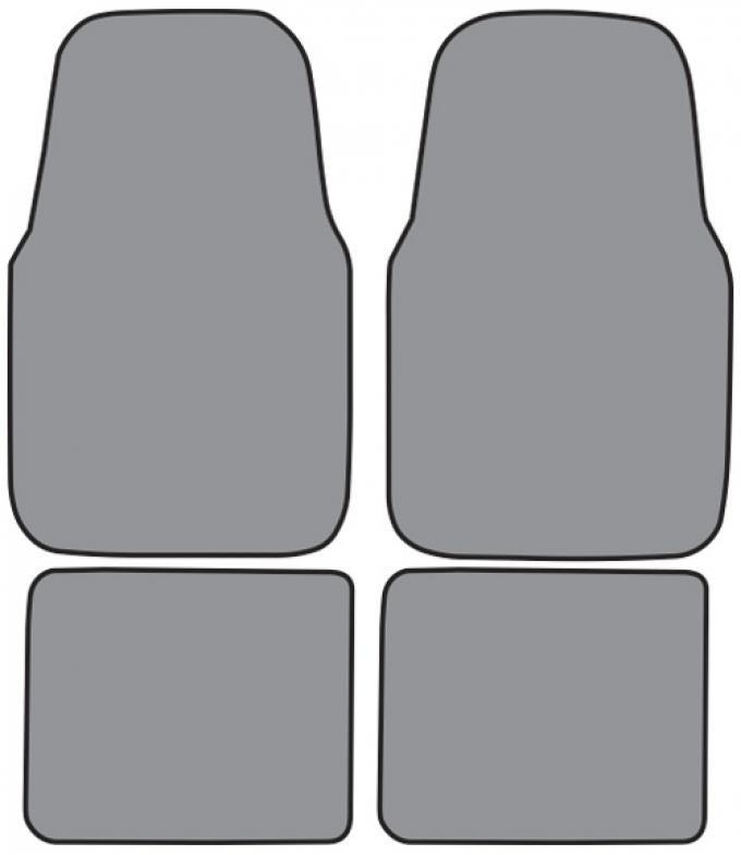ACC  Mercury Mystique Floor Mat 4pc (FM154F FM18R) Cutpile, 1995-2000
