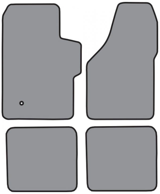 ACC  Ford F-450 Super Duty Super Cab Floor Mat 4pc (FM300F P531R) Cutpile, 1999-2007