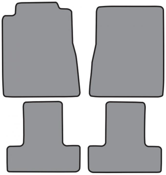 ACC  Ford Mustang Floor Mat 4pc (FM356 FM356R) Cutpile, 2010-2014