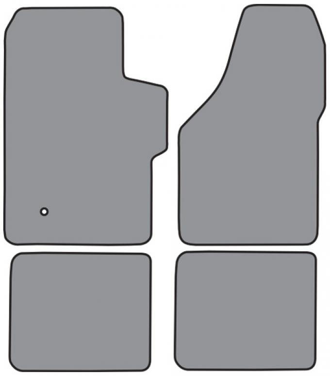 ACC  Ford F-350 Super Duty Crew Cab Floor Mat 4pc (FM300F FM18R) Cutpile, 1999-2007