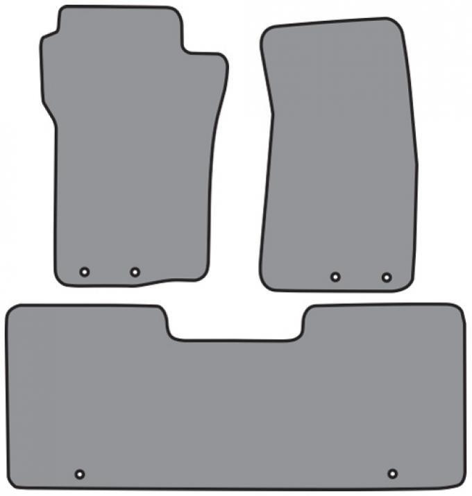 ACC  Ford Explorer Sport Trac 2pc Frts & 1pc Rr Floor Mat (P535 P535R) Cutpile, 2001-2005