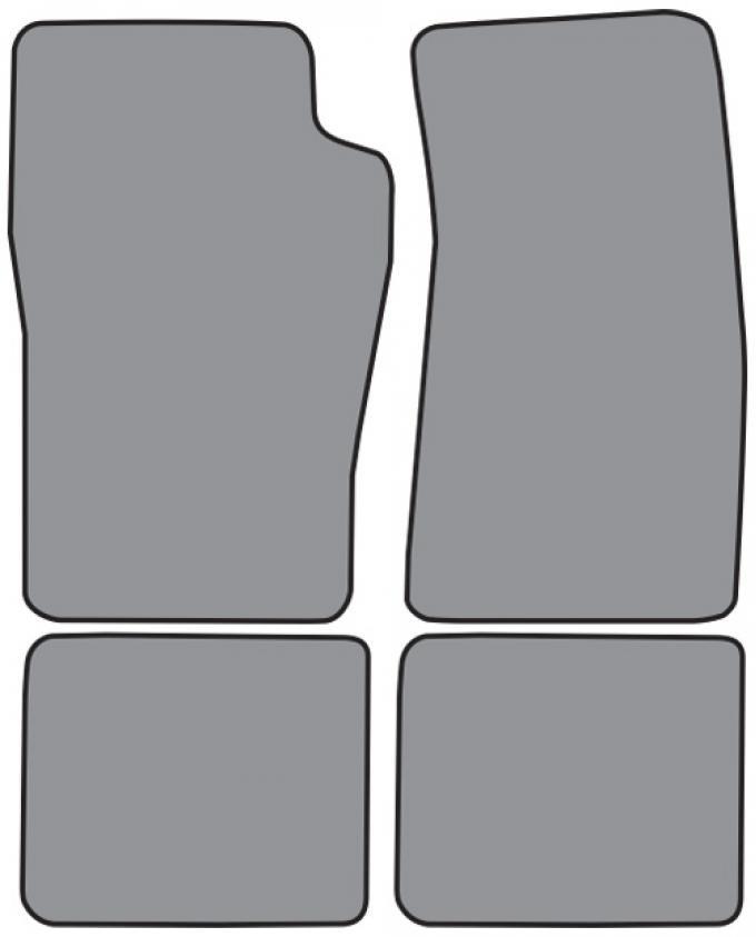 ACC  Ford Explorer 2DR Floor Mat 4pc (FM42F FM18R) Cutpile, 1991-2003