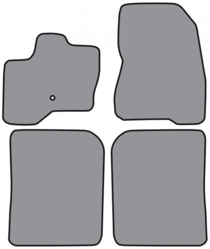 ACC  Ford Flex Floor Mat 4pc (P528 P528R) Cutpile, 2009-2010