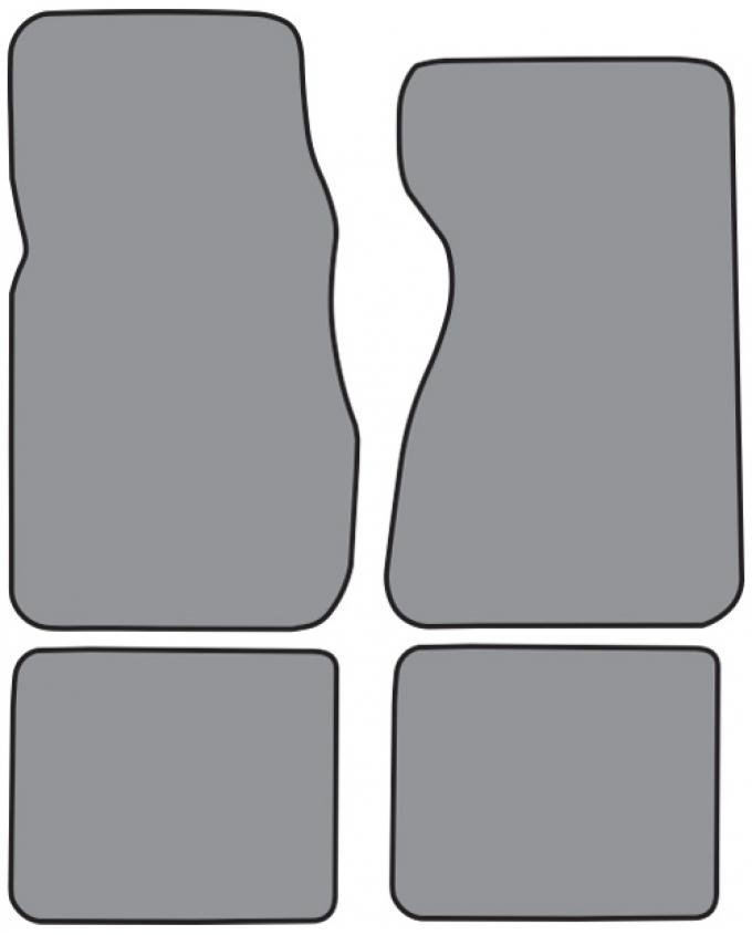 ACC  Ford LTD Floor Mat 4pc (FO232F FM18R) Cutpile, 1979-1982