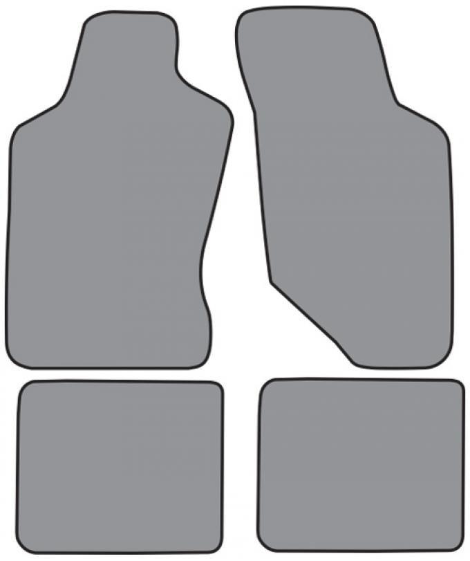 ACC  Mercury Sable Floor Mat 4pc (ME722F FM18R) Cutpile, 1992-1995