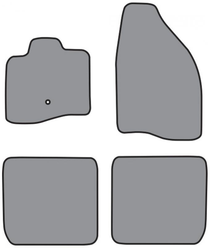 ACC  Mercury Montego Floor Mat 4pc (P519 P519R) Cutpile, 2005-2007