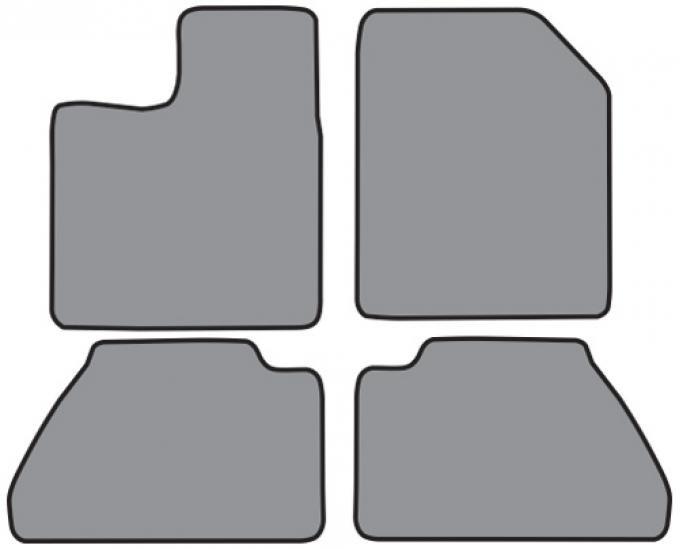 ACC  Ford Edge Floor Mat 4pc (FO462 FO462R) Cutpile, 2011-2014