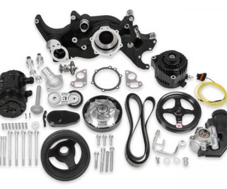 Holley Complete Mid-Mount Accessory System, LS, Black 20-185BK