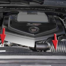 2006-2015 Cadillac CTS-V - Carbon Fiber Radiator Cover 123030