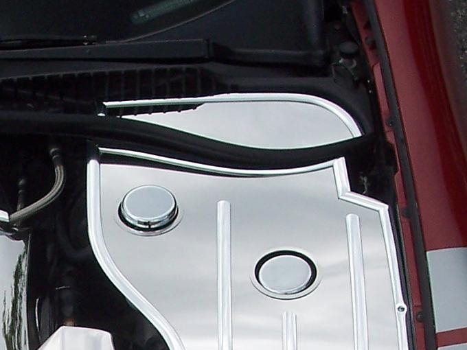 American Car Craft 2010-2014 Ford Mustang Inner Fender Cover Extender Polished Driver Side Only 033022