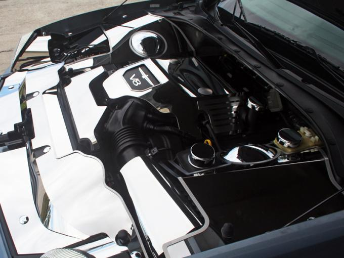 2003-2005 3.9L V8  Thunderbird - Engine Shroud Cover 2Pc - Stainless Steel, Choose Finish 503001