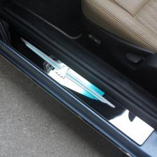 2003-2005 Ford Thunderbird - T-Bird Logo Door Sills 2Pc - Polished or Brushed Stainless 501001